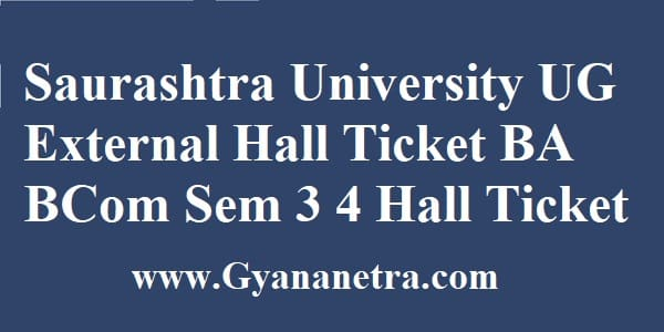 Saurashtra University External Hall Ticket Download Online