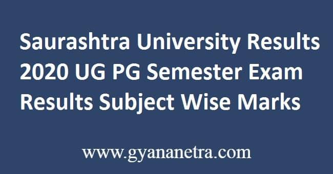 Saurashtra University Results