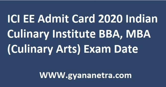 ICI EE Admit Card