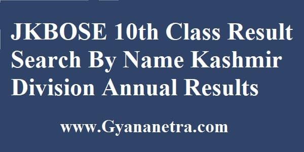 JKBOSE 10th Class Result Check