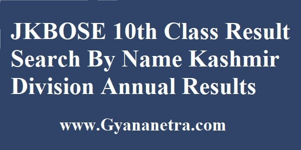 JKBOSE 10th Class Result Check