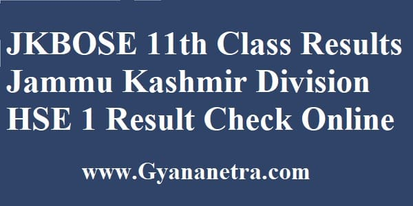 JKBOSE 11th Class Results Check Online