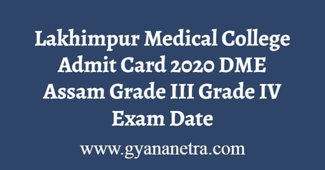 Lakhimpur Medical College Admit Card