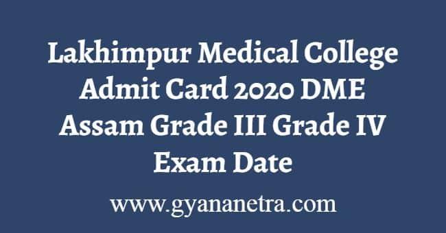Lakhimpur Medical College Admit Card