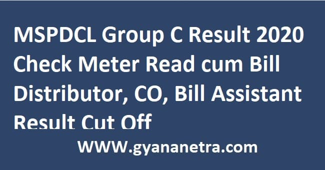 MSPDCL Group C Result
