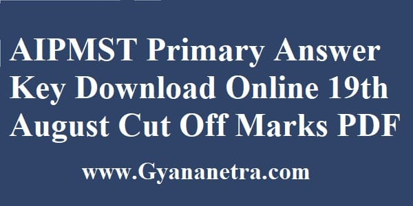 AIPMST Primary Answer Key Download Online
