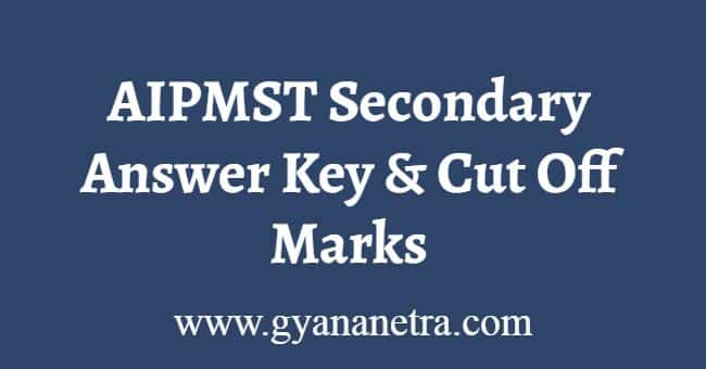 AIPMST Secondary Answer Key