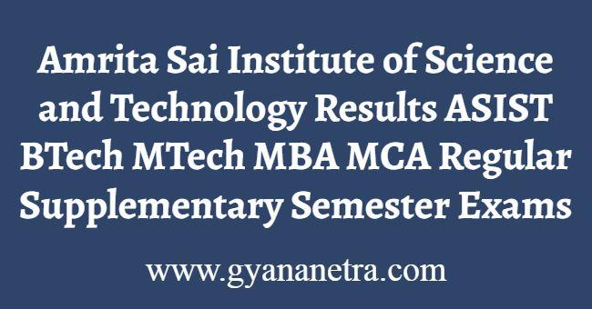 Amrita Sai Results