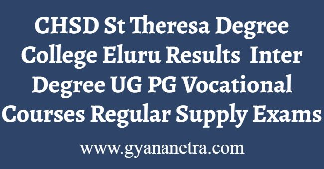 CHSD St Theresa Degree College Eluru Results