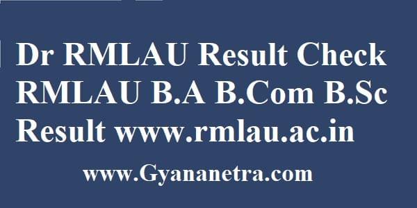 Dr RMLAU Result UG PG Semester Exam