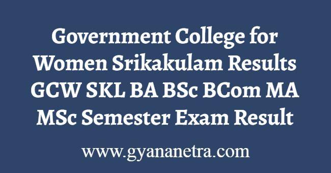 Government College for Women Srikakulam Results