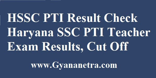 HSSC PTI Result Merit List Cut Off Marks
