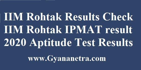 IIM Rohtak Results