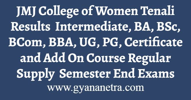 JMJ College of Women Tenali Result