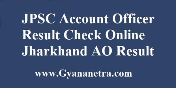 JPSC Account Officer Result Merit List