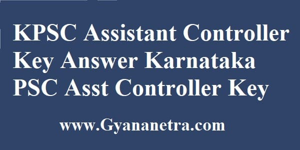 KPSC Assistant Controller Key Answer Download Exam