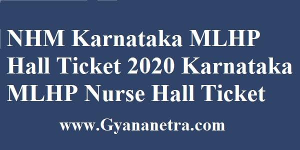 NHM Karnataka MLHP Hall Ticket