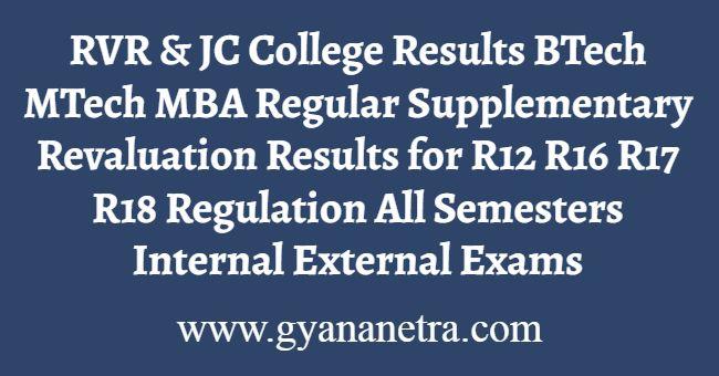 RVR & JC College Results
