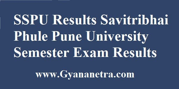SSPU Results Semester Exam
