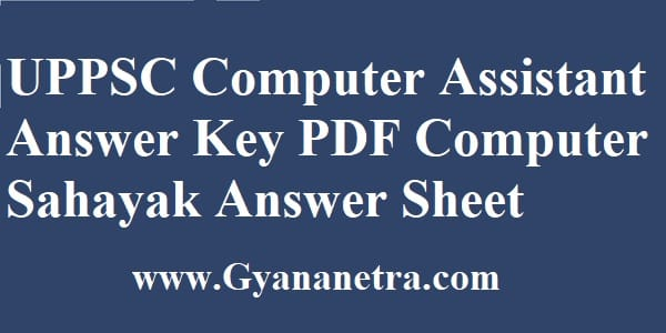 UPPSC Computer Assistant Answer Key 2020