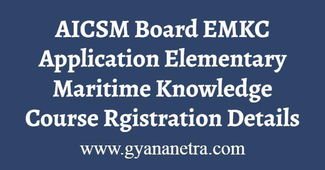 AICSM BoardEMKC Online Application