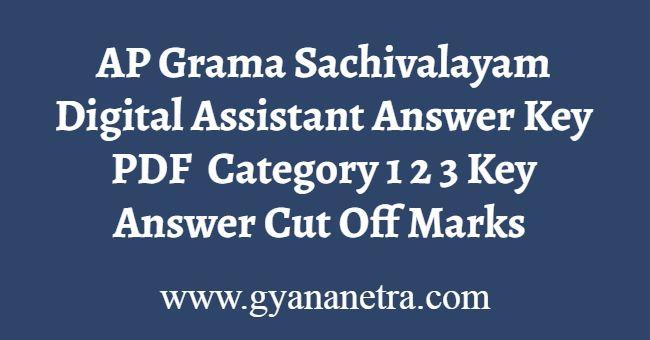 AP Grama Sachivalayam Digital Assistant Answer Key PDF