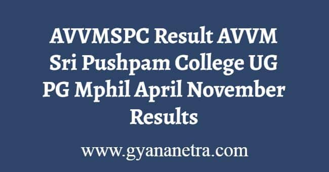 AVVMSPC Result