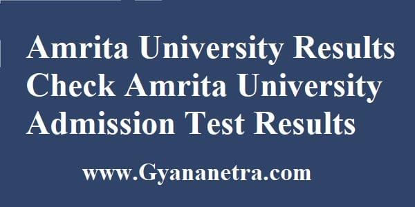 Amrita University Results AEEE Rank Card