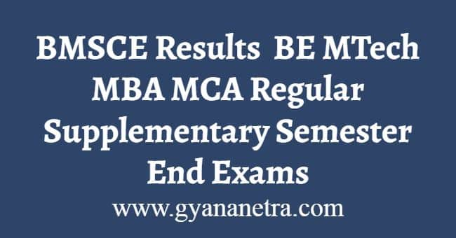 BMSCE Results