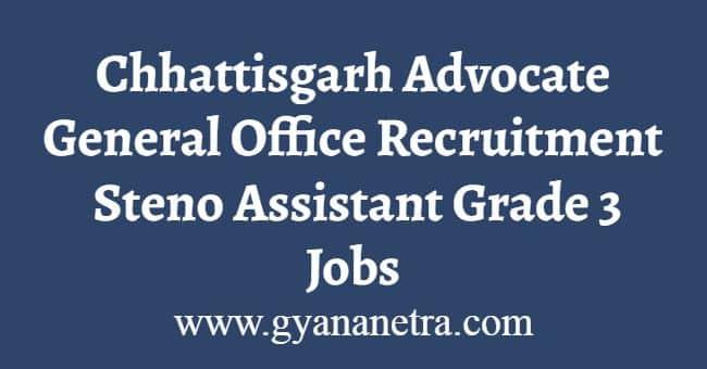 Chhattisgarh Advocate General Office Recruitment