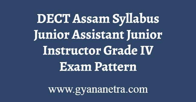 DECT Assam Syllabus