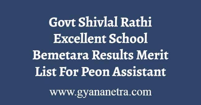 Govt Shivlal Rathi Excellent School Bemetara Results