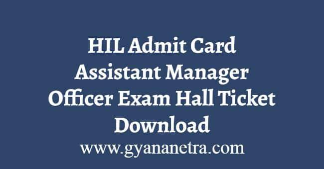 HIL Admit Card