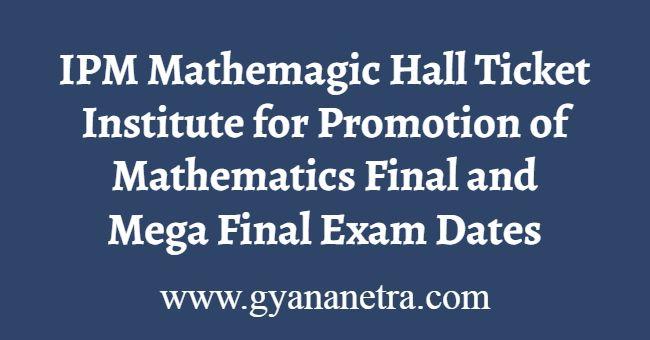 IPM Mathemagic Hall Ticket