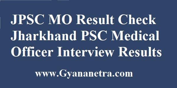 JPSC MO Result Merit List