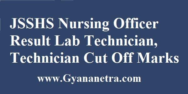 JSSHS Nursing Officer Result Merit List