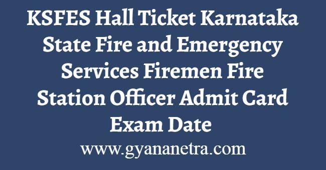 KSFES Hall Ticket