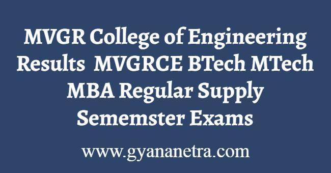 MVGR College of Engineering Results