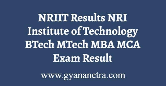 NRIIT Results