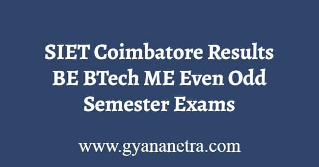 SIET Coimbatore Results