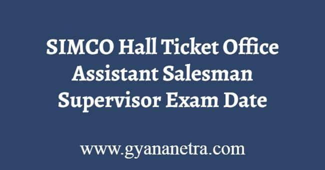 SIMCO Hall Ticket