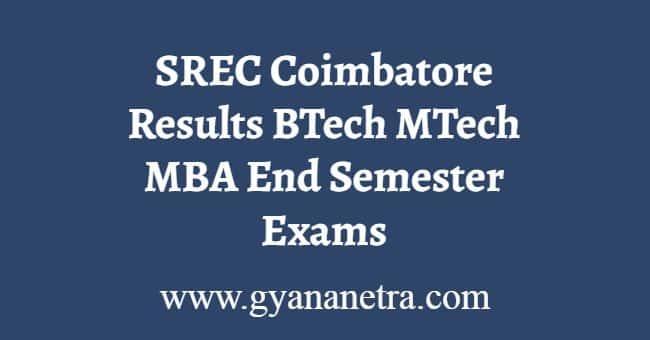 SREC Coimbatore Results