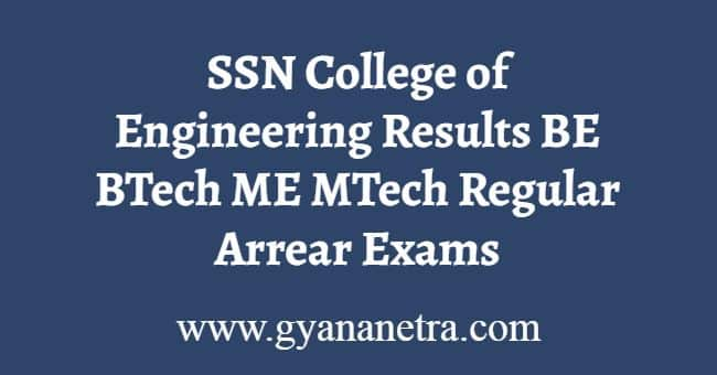 SSN College of Engineering Results