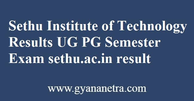 Sethu Institute of Technology Results Check
