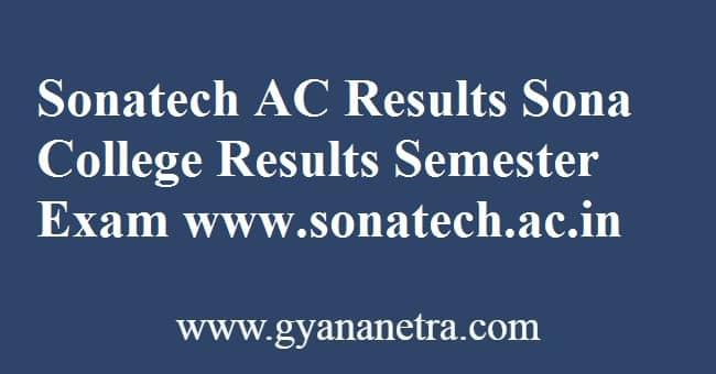 Sonatech AC Results Semester Exam