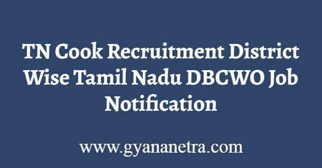 TN Cook Recruitment