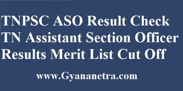 TNPSC ASO Result Merit List