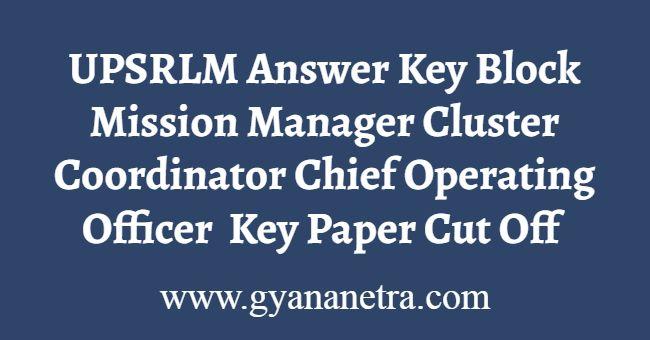 UPSRLM Answer Key