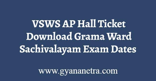 VSWS Hall Tickets