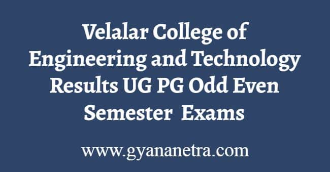 Velalar College of Engineering and Technology Results